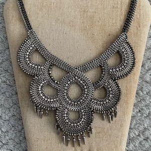 Stella & Dot Tallulah Silver Bib Necklace